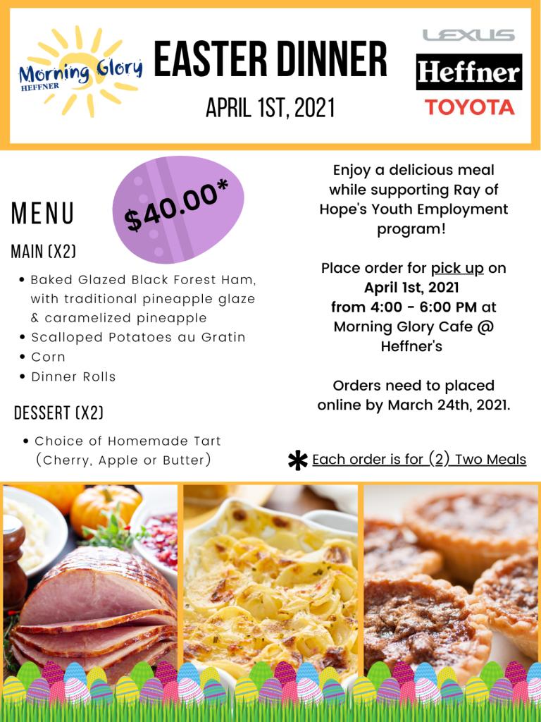 Easter Dinner meal promotion