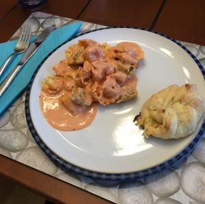 tortellini on a plate